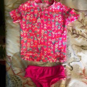 Toddler Girl Rashguard Swimsuit